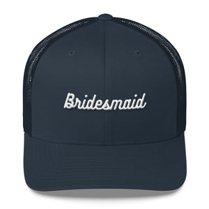 Bridesmaid Trucker Cap-Hat-PureDesignTees