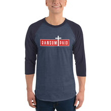 Load image into Gallery viewer, Ransom Paid 3/4 sleeve raglan shirt-Raglan T-shirt-PureDesignTees