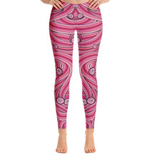 Load image into Gallery viewer, Pink Swirls Leggings-leggings-PureDesignTees