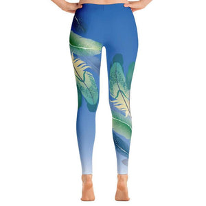 Tropical Feathers Leggings, Leggings - PureDesignTees