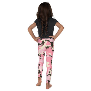 Pink Camo Kid's Leggings-leggings-PureDesignTees