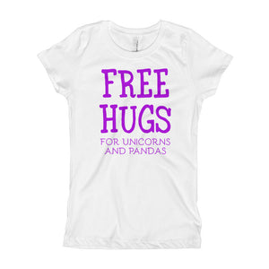 Free Hugs For Unicorns and Pandas Girl's T-Shirt-t-shirt-PureDesignTees