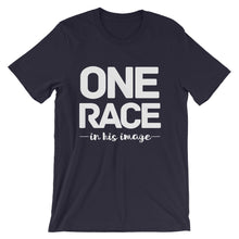 Load image into Gallery viewer, One Race in His image Unisex short sleeve t-shirt-PureDesignTees