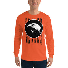 Load image into Gallery viewer, Bald Eagle and Stripes Long Sleeve T-Shirt-Long sleeve T-shirt-PureDesignTees