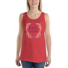 Load image into Gallery viewer, Foster Mom Floral Wreath Unisex Tank Top-Tank Top-PureDesignTees