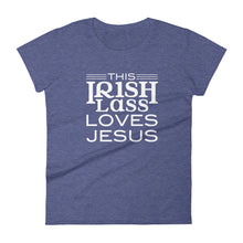 Load image into Gallery viewer, This Irish Lass Loves Jesus Women's short sleeve t-shirt-PureDesignTees