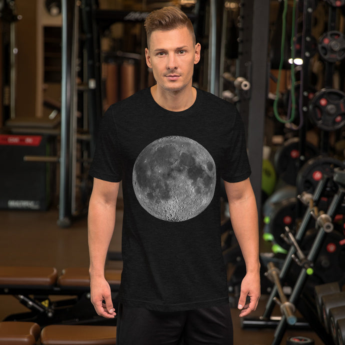 Big Full Moon Short-Sleeve Unisex T-Shirt-T-Shirt-PureDesignTees