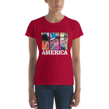 Load image into Gallery viewer, This is America - Children Praying Women's short sleeve t-shirt-T-Shirt-PureDesignTees
