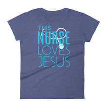 Load image into Gallery viewer, This Nurse Loves Jesus Women's short sleeve t-shirt-T-Shirt-PureDesignTees