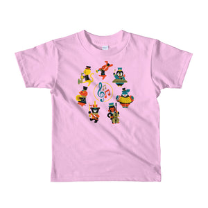 Musical Animals Short sleeve kids t-shirt, t-shirt - PureDesignTees
