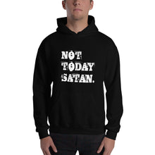 Load image into Gallery viewer, Not Today Satan Grunge Pullover Hooded Sweatshirt-Hoodie-PureDesignTees