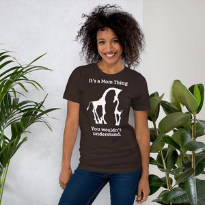 It's a Mom Thing Unisex Short Sleeve Jersey T-Shirt with Tear Away Label-t-shirt-PureDesignTees