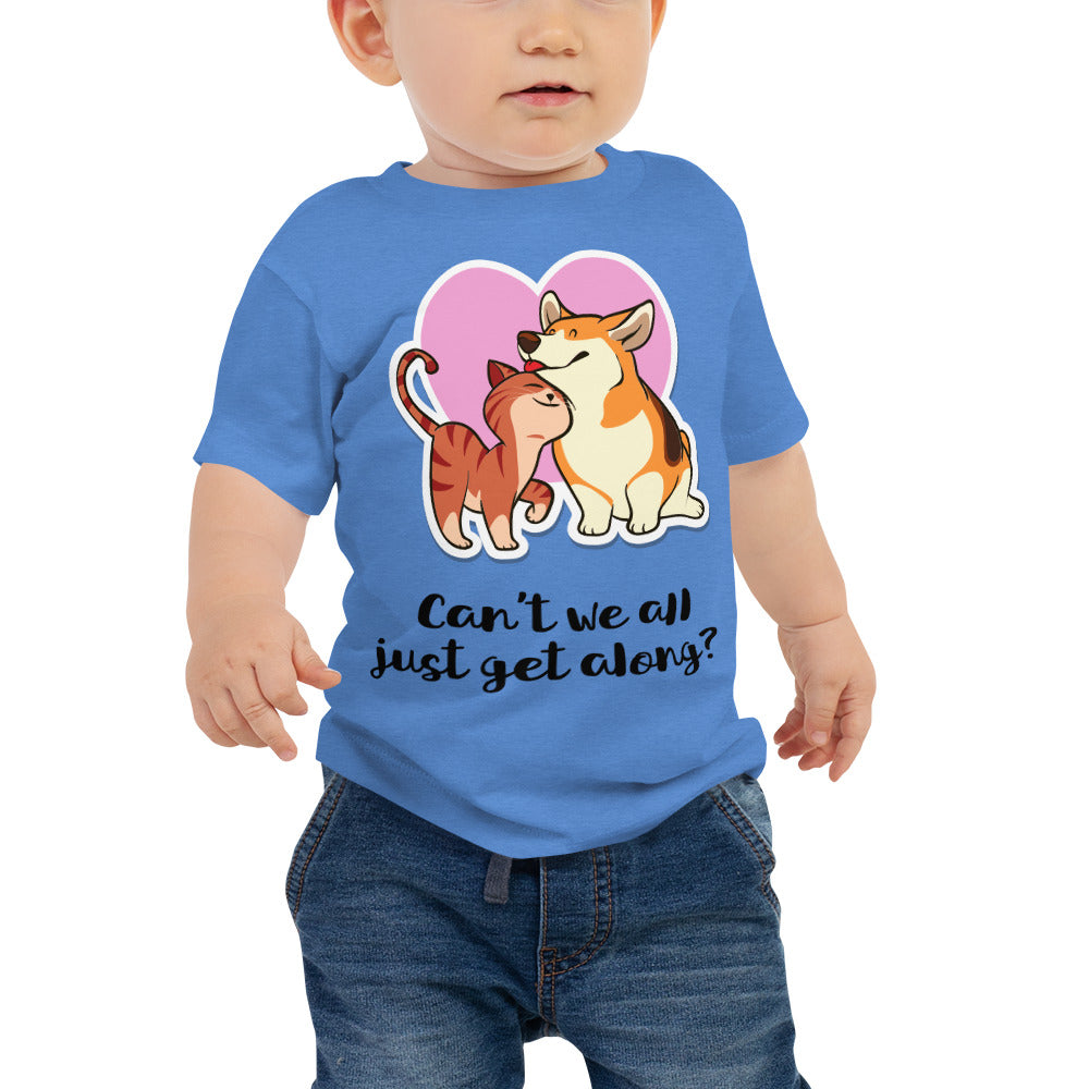 Can't We All Just Get Along Baby Jersey Short Sleeve Tee