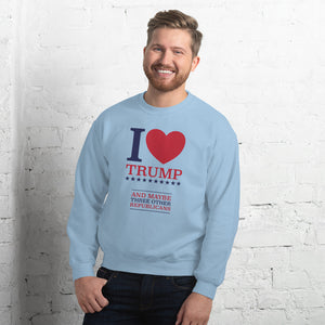I Heart Trump and Maybe Three Other Republicans Unisex Sweatshirt-Sweatshirt-PureDesignTees