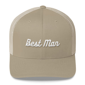 Best Man Trucker Cap-Hat-PureDesignTees