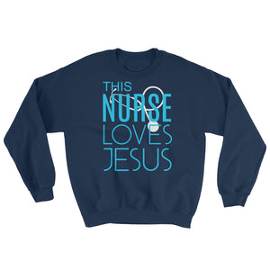 This Nurse Loves Jesus Sweatshirt-Sweatshirt-PureDesignTees