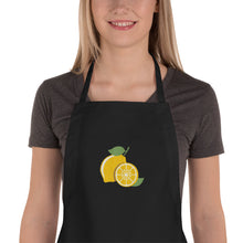 Load image into Gallery viewer, Lovely Lemon Embroidered Apron-Apron-PureDesignTees