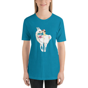 Lovely Llama Short-Sleeve Unisex T-Shirt-PureDesignTees