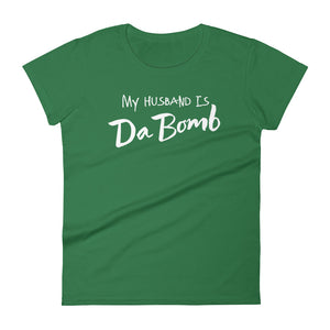 My Husband is Da Bom Women's short sleeve t-shirt-T-Shirt-PureDesignTees