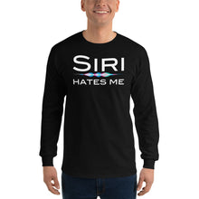 Load image into Gallery viewer, Siri Hates Me Long Sleeve T-Shirt, Long sleeve t-shirt - PureDesignTees