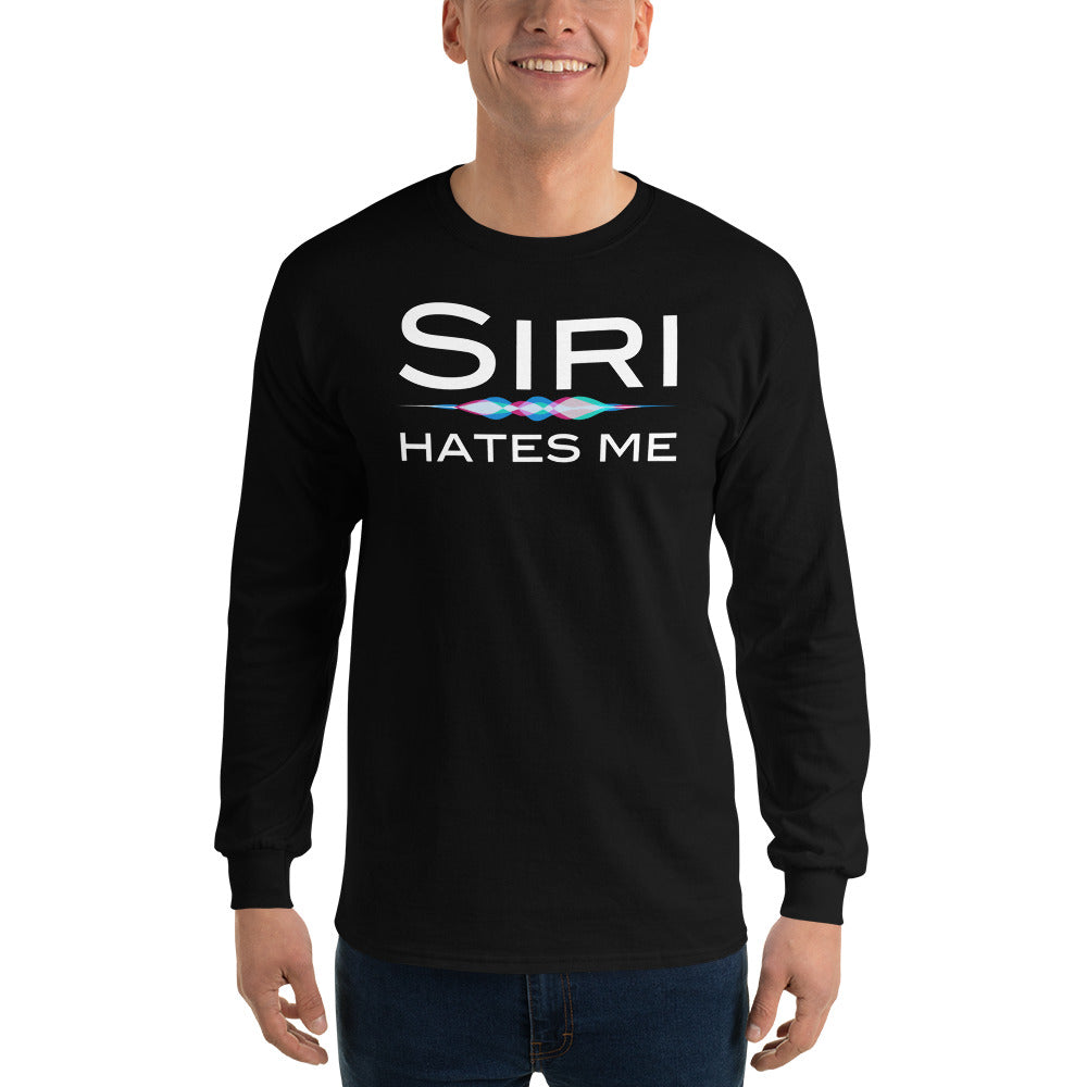 Siri Hates Me Long Sleeve T-Shirt, Long sleeve t-shirt - PureDesignTees