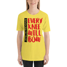 Load image into Gallery viewer, Jesus Reigns Every Knee will Bow Short-Sleeve Unisex T-Shirt-t-shirt-PureDesignTees