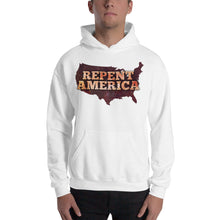 Load image into Gallery viewer, Repent America Hooded Sweatshirt-Sweatshirt-PureDesignTees