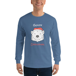 Beary Christmas Long Sleeve T-Shirt-long sleeve t-shirt-PureDesignTees