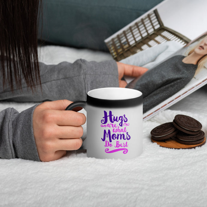 Hugs are What Moms Do Best Matte Black Magic Mug-Magic Mug-PureDesignTees