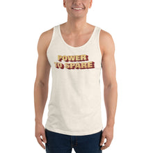 Load image into Gallery viewer, Power to Spare Unisex Jersey Tank with Tear Away Label-Tank Top-PureDesignTees