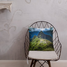 Load image into Gallery viewer, Machu Picchu Premium Throw Pillow-Premium Throw Pillow-PureDesignTees