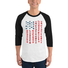 Load image into Gallery viewer, Celebrate America 3/4 sleeve raglan shirt-Raglan T-shirt-PureDesignTees