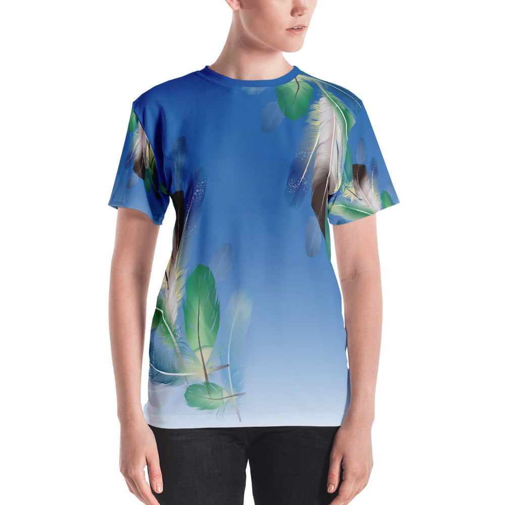 Tropical Feathers Women's T-shirt-T-Shirt-PureDesignTees