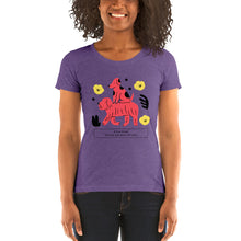 Load image into Gallery viewer, True Friend Dog Ladies' short sleeve t-shirt-women's tri-blend t-shirt-PureDesignTees