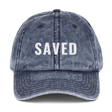 Load image into Gallery viewer, Saved Vintage Cotton Twill Cap-cap-PureDesignTees