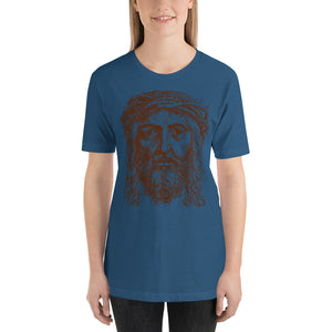 Jesus Portrait with Crown of Thorns Short-Sleeve Unisex T-Shirt