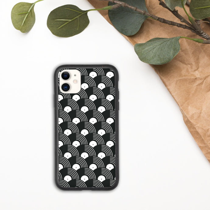 Vinyl Record Pattern Biodegradable phone case-iPhone Case-PureDesignTees