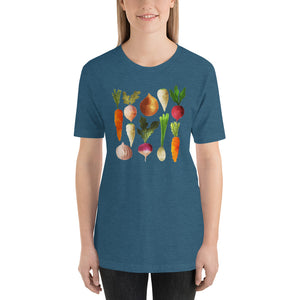 Watercolor Vegetables Short-Sleeve Unisex T-Shirt-t-shirt-PureDesignTees