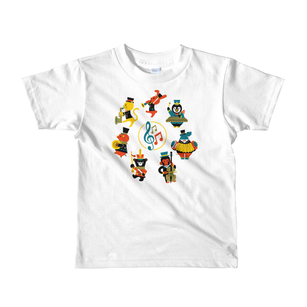 Musical Animals Short sleeve kids t-shirt-t-shirt-PureDesignTees