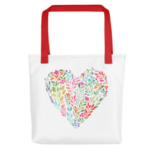 Load image into Gallery viewer, Classy Watercolor Floral Heart Tote bag-PureDesignTees