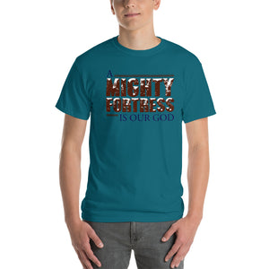 A Mighty Fortress Is Our God Short-Sleeve T-Shirt, T-Shirt - PureDesignTees