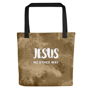 Jesus No Other Way Tote bag-Tote-PureDesignTees