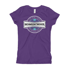 Load image into Gallery viewer, Homeschool Badge Girl's T-Shirt-T-Shirt-PureDesignTees