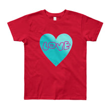 Load image into Gallery viewer, Love Heart Youth Short Sleeve T-Shirt-T-Shirt-PureDesignTees