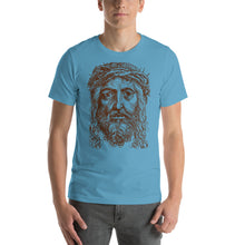 Load image into Gallery viewer, Jesus Crown of Thorns Portrait Short-Sleeve Unisex T-Shirt-t-shirt-PureDesignTees