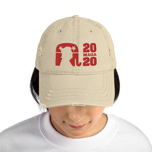 Trump 2020 MAGA Embroidered Distressed Dad Hat-distressed dad hat-PureDesignTees
