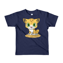 Load image into Gallery viewer, Cute Leopard Cub Short sleeve kids t-shirt-T-shirt-PureDesignTees