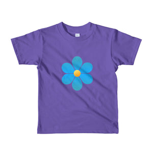 Beautiful Blue Flower for Toddler Short sleeve kids t-shirt-T-Shirt-PureDesignTees