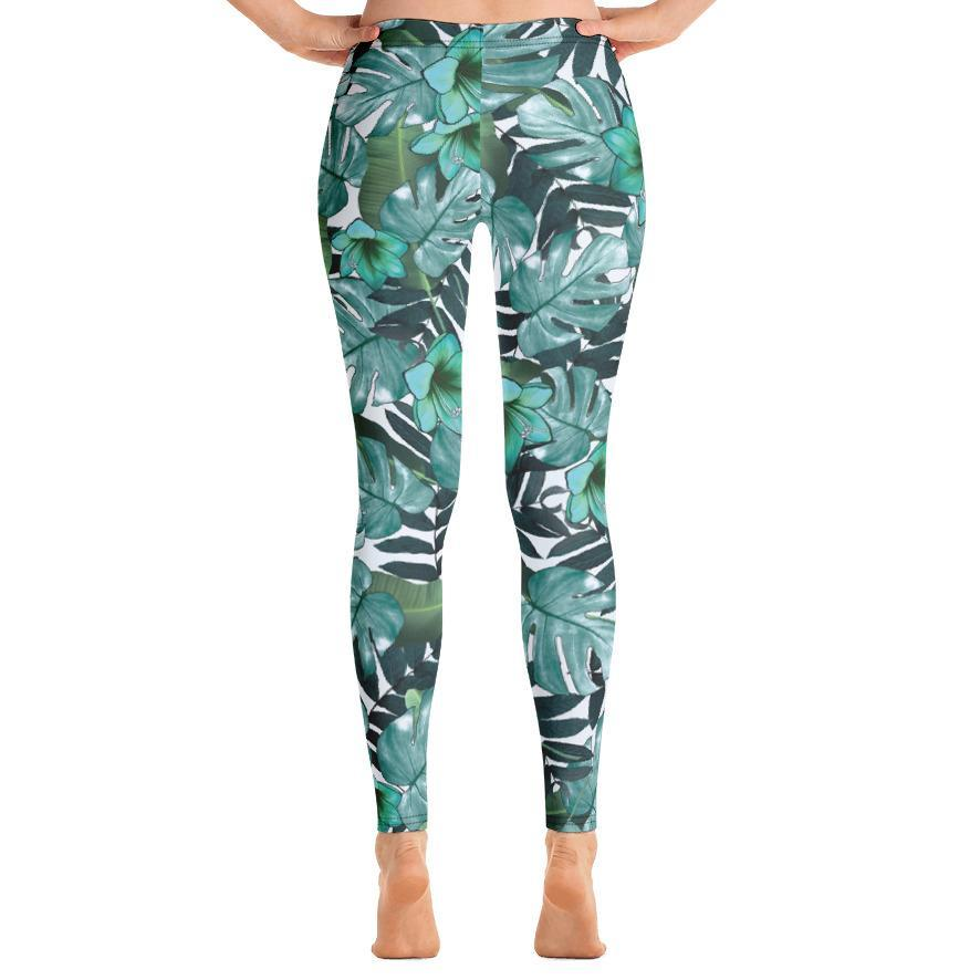 Jungle Foliage Leggings-Leggings-PureDesignTees