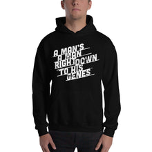 Load image into Gallery viewer, A Man's a Man Right Down to His Genes Hooded Sweatshirt-hoodie-PureDesignTees